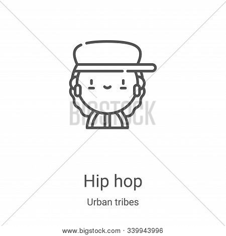hip hop icon isolated on white background from urban tribes collection. hip hop icon trendy and mode