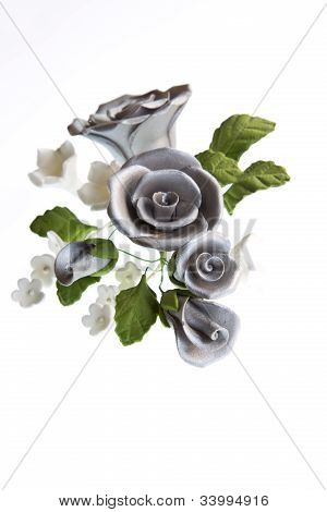 Silver Sugar Paste Bouquet