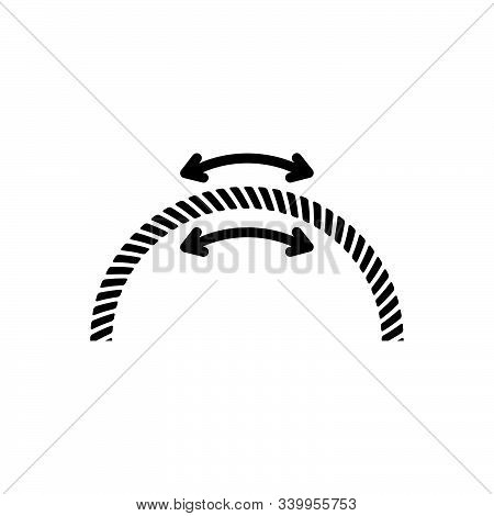Black Line Icon For Flexible Spring  Adapt Stretching
