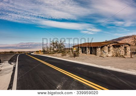 Sunrise In The Death Valley California Desert