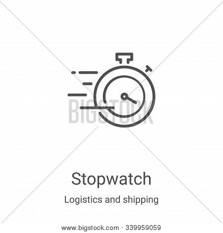 stopwatch icon isolated on white background from logistics and shipping collection. stopwatch icon t