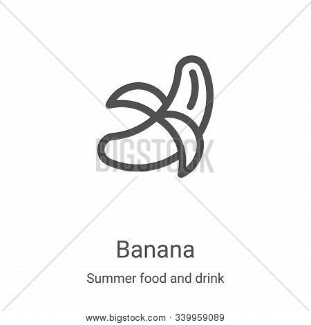 banana icon isolated on white background from summer food and drink collection. banana icon trendy a