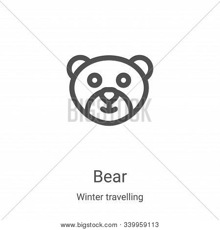 bear icon isolated on white background from winter travelling collection. bear icon trendy and moder