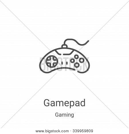 gamepad icon isolated on white background from gaming collection. gamepad icon trendy and modern gam