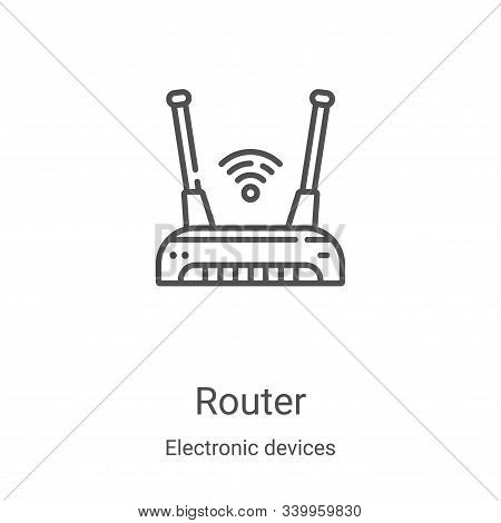 router icon isolated on white background from electronic devices collection. router icon trendy and