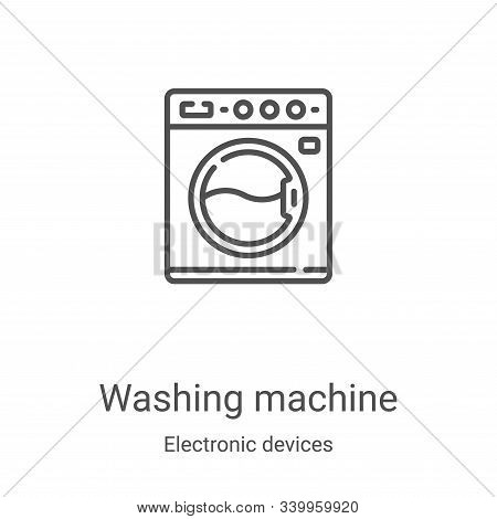 washing machine icon isolated on white background from electronic devices collection. washing machin