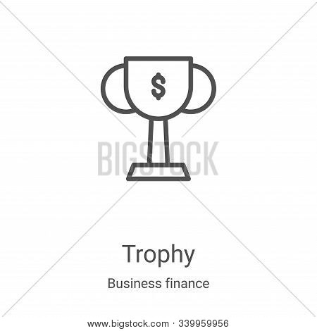 trophy icon isolated on white background from business finance collection. trophy icon trendy and mo