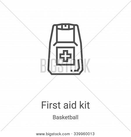 first aid kit icon isolated on white background from basketball collection. first aid kit icon trend