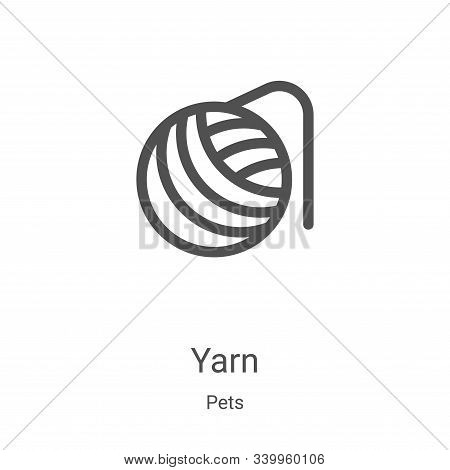yarn icon isolated on white background from pets collection. yarn icon trendy and modern yarn symbol