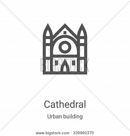 cathedral icon isolated on white background from urban building collection. cathedral icon trendy an