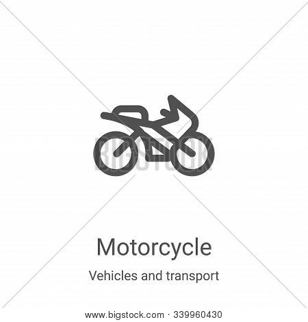 motorcycle icon isolated on white background from vehicles and transport collection. motorcycle icon