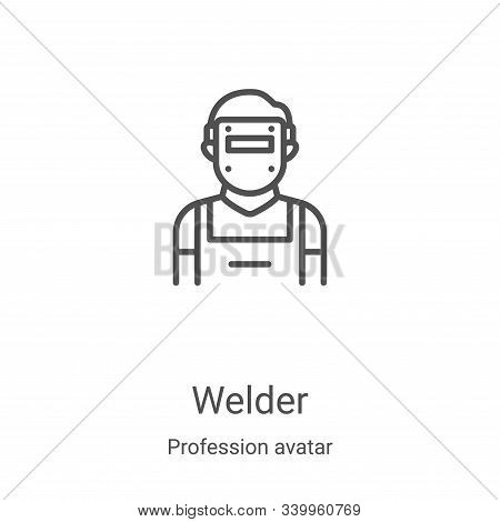 welder icon isolated on white background from profession avatar collection. welder icon trendy and m