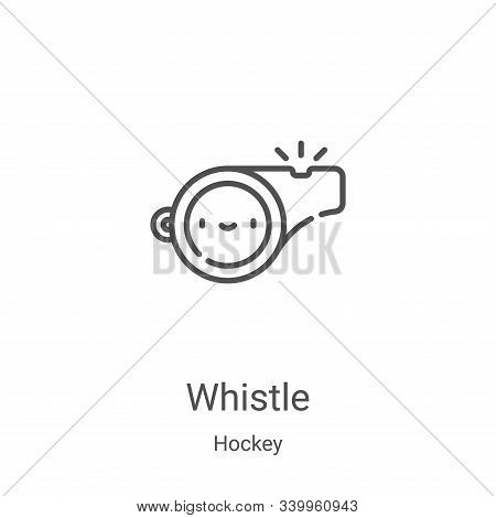whistle icon isolated on white background from hockey collection. whistle icon trendy and modern whi