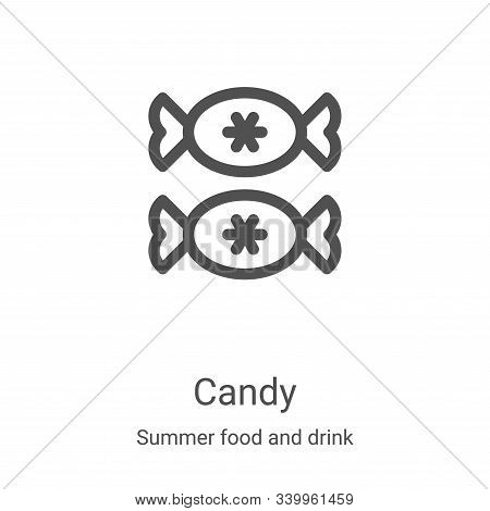 candy icon isolated on white background from summer food and drink collection. candy icon trendy and