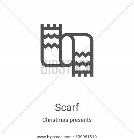 scarf icon isolated on white background from christmas presents collection. scarf icon trendy and mo
