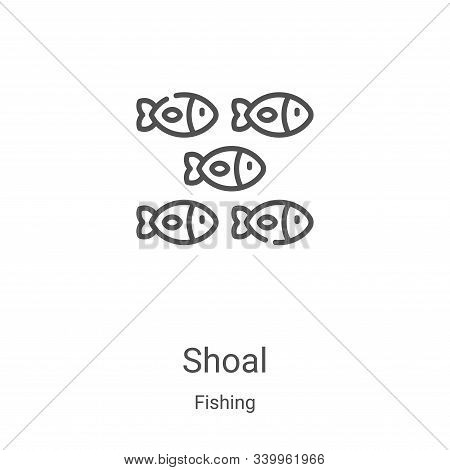 shoal icon isolated on white background from fishing collection. shoal icon trendy and modern shoal
