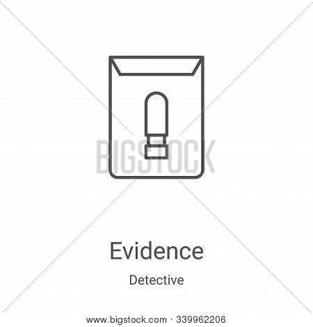 evidence icon isolated on white background from detective collection. evidence icon trendy and moder