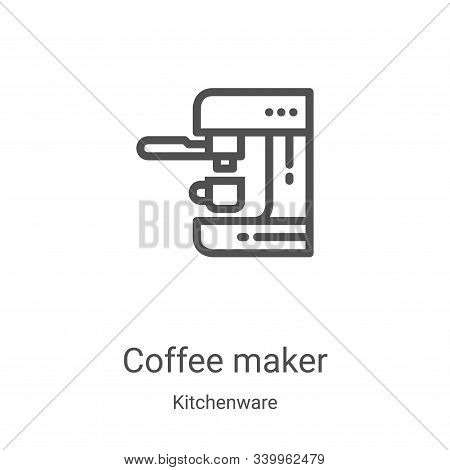 coffee maker icon isolated on white background from kitchenware collection. coffee maker icon trendy