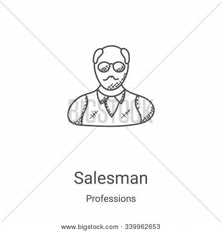 Salesman icon isolated on white background from professions collection. Salesman icon trendy and mod