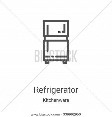 refrigerator icon isolated on white background from kitchenware collection. refrigerator icon trendy