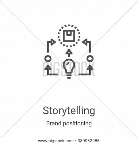 storytelling icon isolated on white background from brand positioning collection. storytelling icon