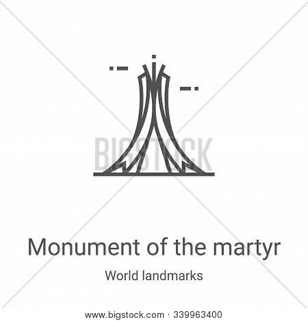 monument of the martyr icon isolated on white background from world landmarks collection. monument o