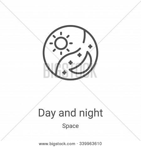 day and night icon isolated on white background from space collection. day and night icon trendy and