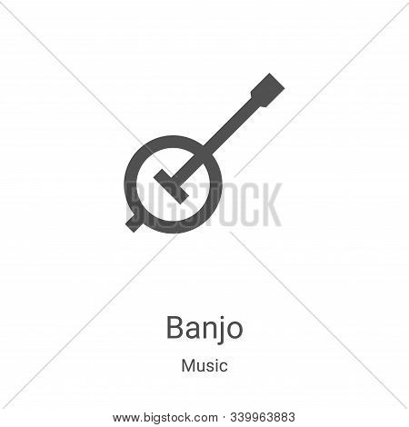 banjo icon isolated on white background from music collection. banjo icon trendy and modern banjo sy