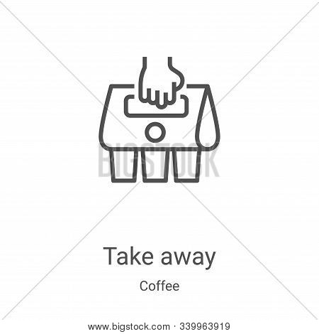 take away icon isolated on white background from coffee collection. take away icon trendy and modern