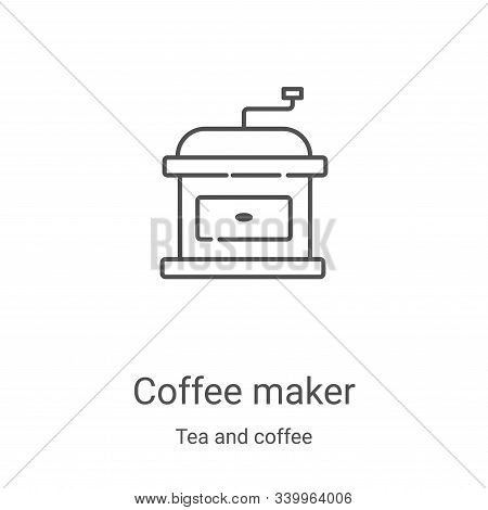 coffee maker icon isolated on white background from tea and coffee collection. coffee maker icon tre