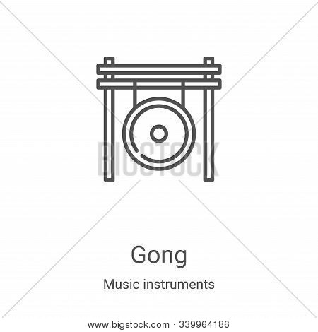 gong icon isolated on white background from music instruments collection. gong icon trendy and moder