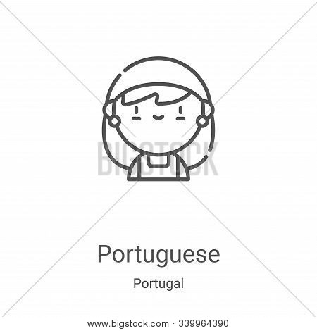 portuguese icon isolated on white background from portugal collection. portuguese icon trendy and mo
