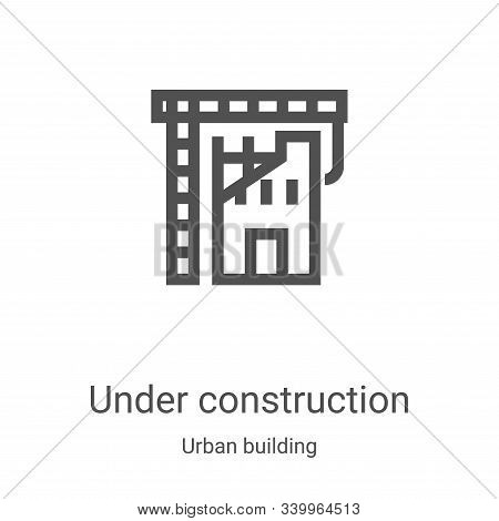 under construction icon isolated on white background from urban building collection. under construct
