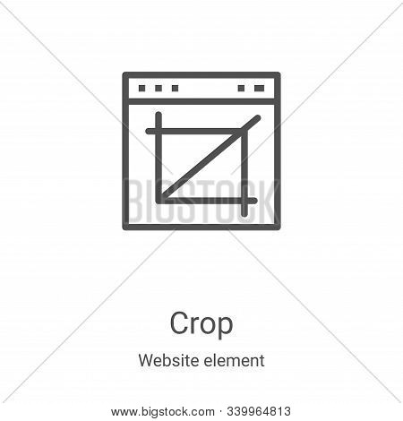 crop icon isolated on white background from website element collection. crop icon trendy and modern