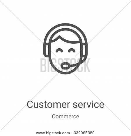 customer service icon isolated on white background from commerce collection. customer service icon t