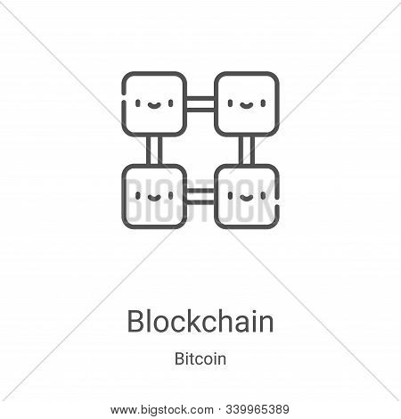 blockchain icon isolated on white background from bitcoin collection. blockchain icon trendy and mod