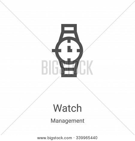 watch icon isolated on white background from management collection. watch icon trendy and modern wat