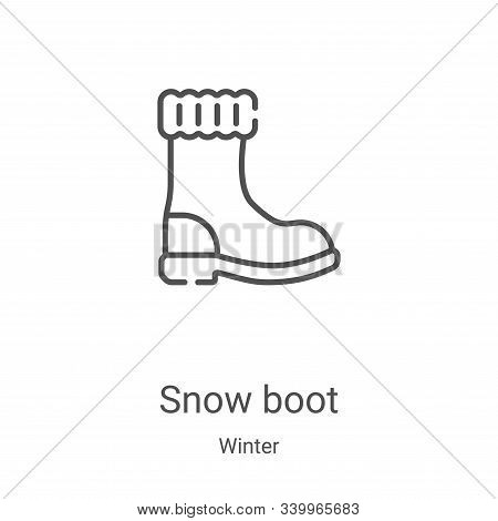 snow boot icon isolated on white background from winter collection. snow boot icon trendy and modern
