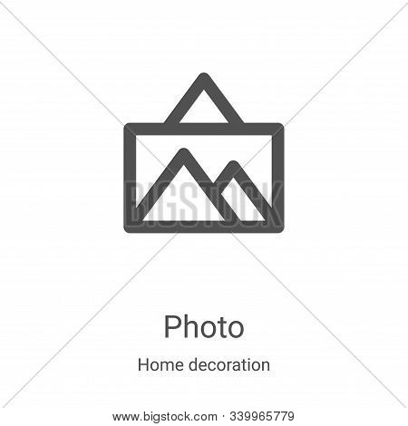 photo icon isolated on white background from home decoration collection. photo icon trendy and moder