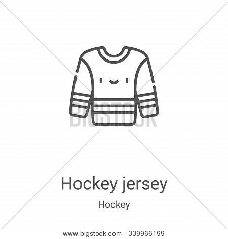 hockey jersey icon isolated on white background from hockey collection. hockey jersey icon trendy an