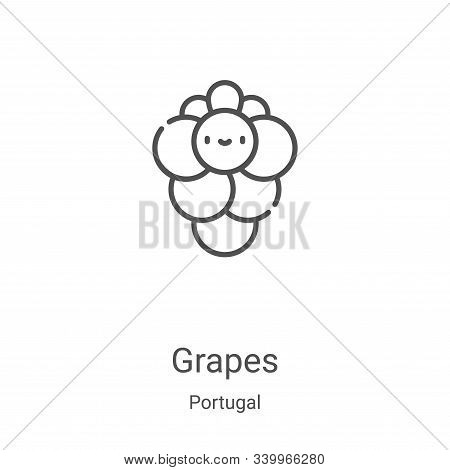 grapes icon isolated on white background from portugal collection. grapes icon trendy and modern gra