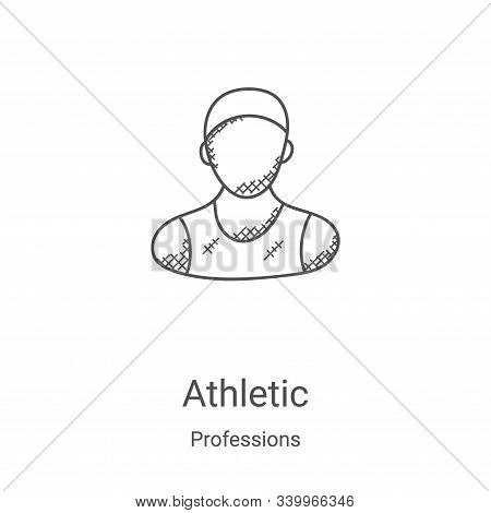 athletic icon isolated on white background from professions collection. athletic icon trendy and mod