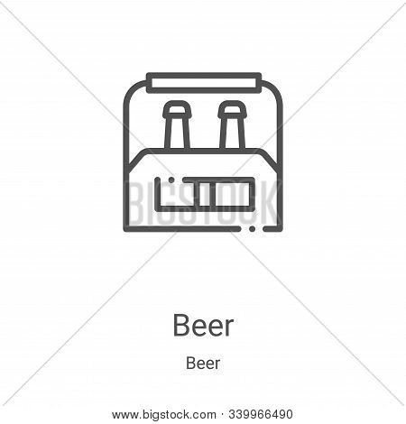 beer icon isolated on white background from beer collection. beer icon trendy and modern beer symbol