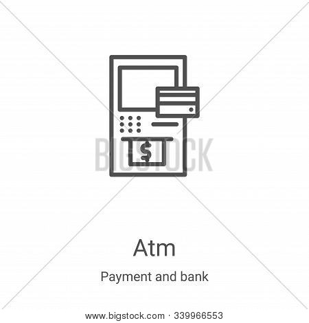 atm icon isolated on white background from payment and bank collection. atm icon trendy and modern a