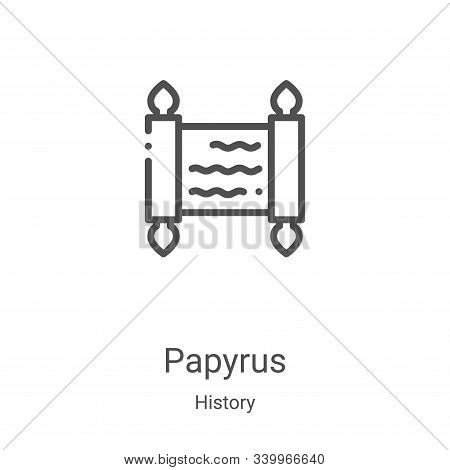papyrus icon isolated on white background from history collection. papyrus icon trendy and modern pa