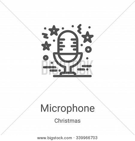 microphone icon isolated on white background from christmas collection. microphone icon trendy and m