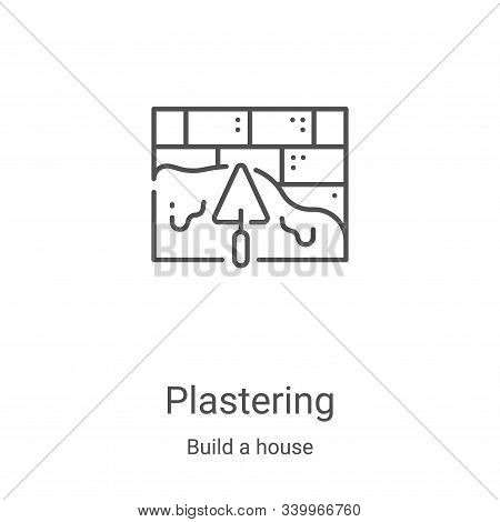 plastering icon isolated on white background from build a house collection. plastering icon trendy a