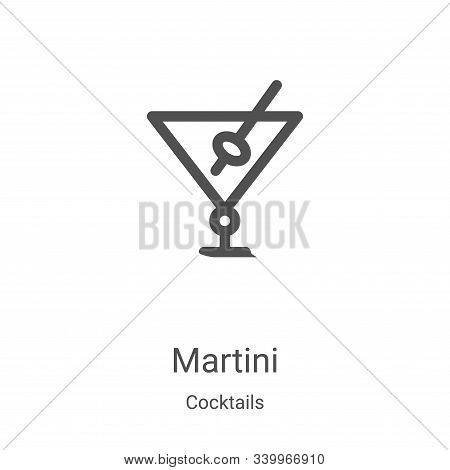 martini icon isolated on white background from cocktails collection. martini icon trendy and modern
