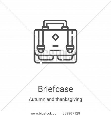 briefcase icon isolated on white background from autumn and thanksgiving collection. briefcase icon
