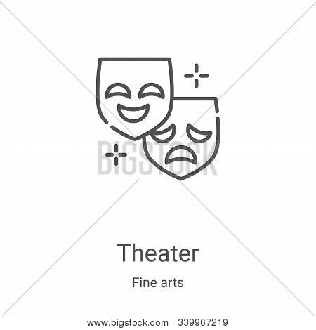 theater icon isolated on white background from fine arts collection. theater icon trendy and modern